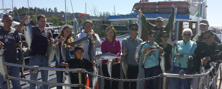 fishing, charter, group, puget sound